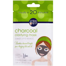 Clean And Reveal Charcoal Clarifying Facial Sheet Mask by miss spa