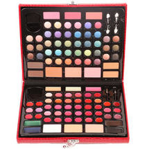 Complete Makeover Kit With Eyeshadows Brow Brushes Lip by ivation