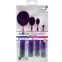Prismatic Face Perfecting Makeup Blending Brushes With Handles by moda