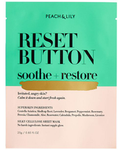 Reset Button Soothe + Restore Sheet Mask by Peach & Lily