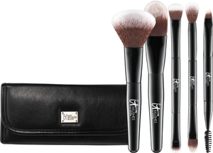 It Cosmetics x ULTA Your Multi-Tasker Deluxe Dual-Ended Travel Brush Set by IT Cosmetics