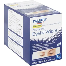Cleansing Eyelid Wipes Size 30 Wipes by equate