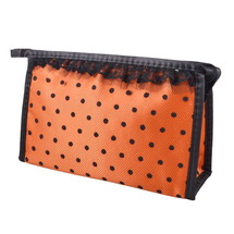 Zippered Mirror Cosmetic Makeup Case Mascaras Holder Hand by Unique Bargains