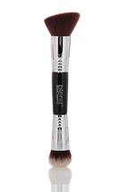 Brass Double Ended Brush - Silver by Blend Mineral Cosmetics