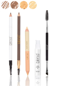 Universal All Hair Colors & Skin Tones 5-Piece Eyebrow Set by Blend Mineral Cosmetics