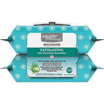 Exfoliating Wet Cleansing Towelettes 2 Pack by equate