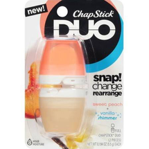 Duo Sweet Peach And Vanilla Shimmer Lip Balm by chapstick