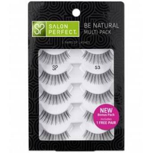 Be Natural Multi Pack Lash 53 5 Pairs by salon perfect
