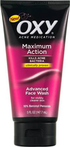Maximum Action Acne Medication Face Wash by oxy