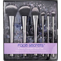 6 Piece Cosmetic Brush Set by Face Secrets Professional