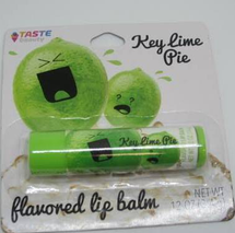 Tube Of Key Lime Pie Flavored Lip Balm by taste
