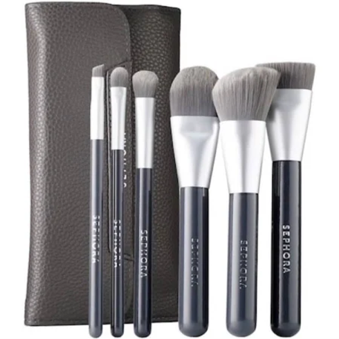 Deluxe Charcoal Antibacterial Brush Set by Sephora Collection