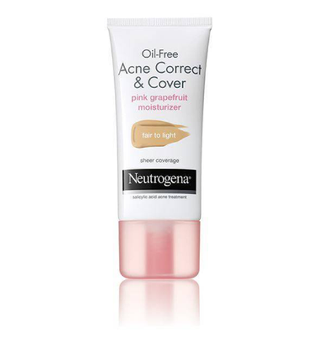 Oil-Free Acne Correct & Cover Pink Grapefruit Moisturizer by Neutrogena #2