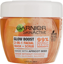 SkinActive Glow Boost 2-in-1 Facial Mask and Scrub by garnier