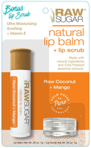 Raw Coconut + Mango Lip Balm And Scrub Set by raw sugar