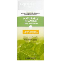 Naturally Beaming Moisturizer Sunscreen Broad Spectrum SPF 15 by equate