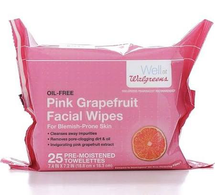 Facial Wipes Pink Grapefruit by Walgreens Beauty