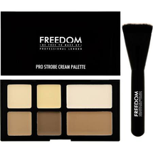 Pro Powder Strobe And Contour Palette With Brush by Freedom Makeup
