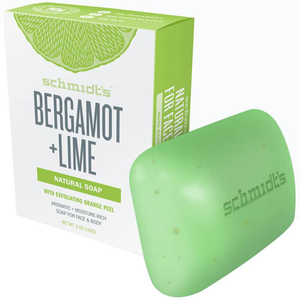 Bergamot + Lime With Exfoliating Orange Peel Bar Soap by Schmidt's Naturals