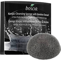 Konjac Cleansing Sponge With Bamboo Charcoal by boscia