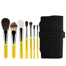 Travel Basic 7pc. Brush Set With Roll-up Pouch by bdellium tools
