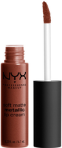 Soft Matte Metallic Lip Cream by NYX Professional Makeup