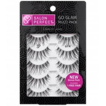 Go Glam Multi Pack Lash 614 Black Pairs by salon perfect
