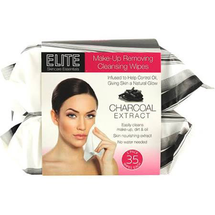Elite Makeup Removing Cleansing Wipes - Charcoal by swissco