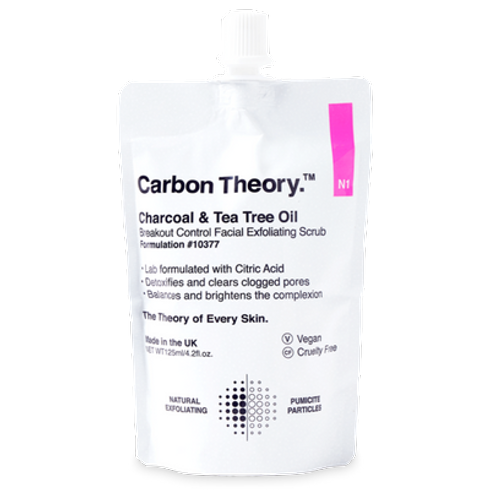 Charcoal & Tea Tree Oil Breakout Control Facial Exfoliating Scrub by Carbon Theory #2