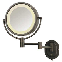 Lighted Makeup Mirror Bronze 5X Hlbzsa895 by see all industries