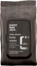 Speed Shower Face Body Wipes Sensitive Skin by every man jack