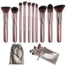 Coffee 10 Piece Makeup Brush Set by Docolor