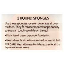 Round Makeup Sponges by essential tools