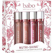 Nutri Shine Hydrating Luminizer Vegan Lip Gloss Set by babo botanicals