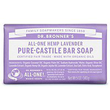 Pure Castile Bar Soap by dr bronners
