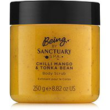 Chilli Mango & Tonka Bean Body Scrub by being