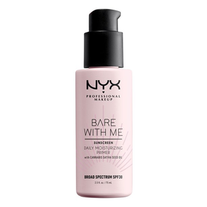 Bare With Me Cannabis Sativa Daily Moisturizing Primer SPF 30 by NYX Professional Makeup