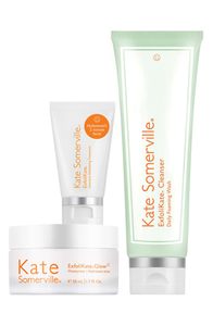All Glow, No Glitter ExfoliKate Trio by kate somerville