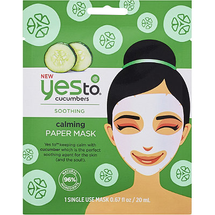 Cucumbers Calming Paper Mask by yes to