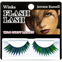 Winks Flash Lash Wild Party Lashes 80's Emerald Array by jerome russell