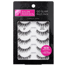 Go Glam Multi Pack Lashes Demi Wispie 5 Pairs by salon perfect