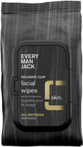 Volcanic Clay Face Wipes Oil Defense by every man jack